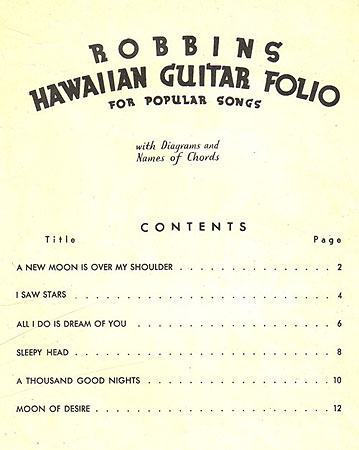 Vintage Hawaiian Music In Pdf Format